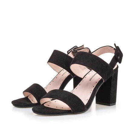 Leather heeled sandal