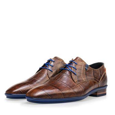 d03d04ff85b Floris van Bommel crocodile print men's lace-up shoe