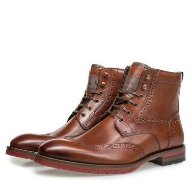 Brogue leather lace boot 1c5809ba1