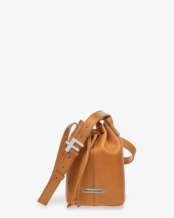 Bucket bag calf leather natural-coloured