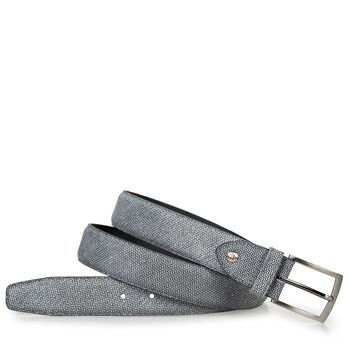 Belt suede leather black/white