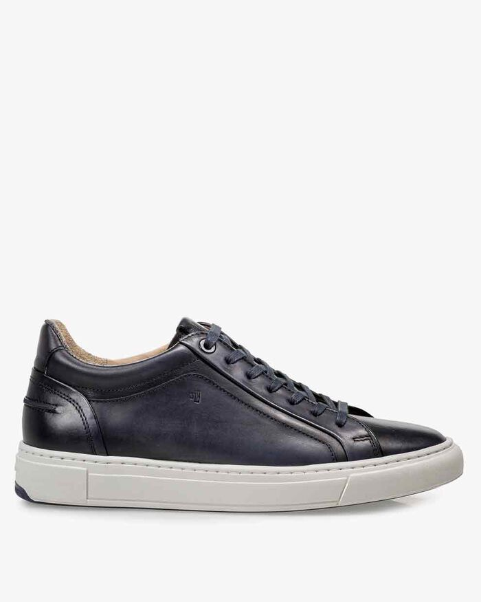Sneaker calf leather blue