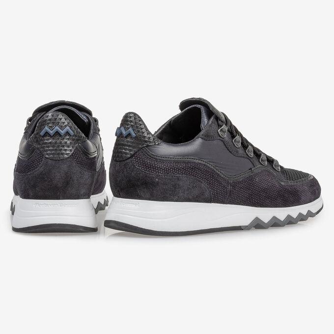 Sneaker black suede leather