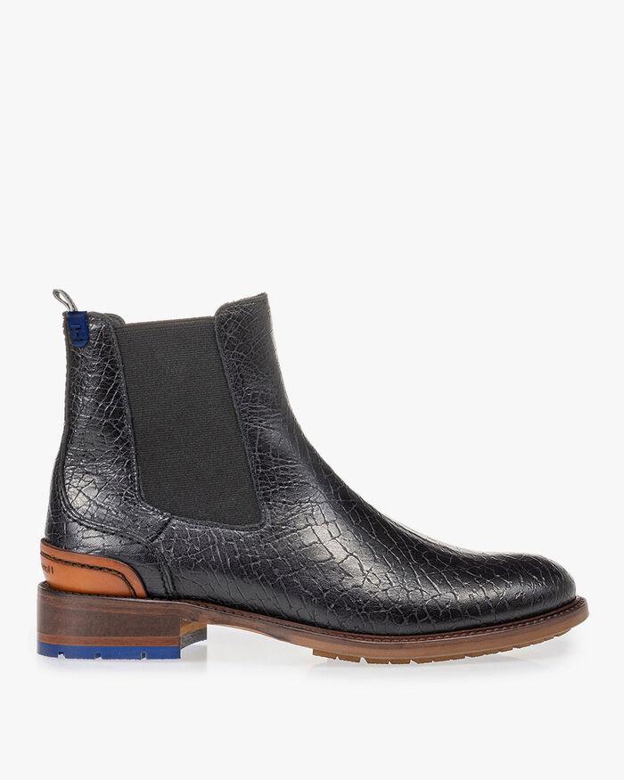 Chelsea boot craquelé leather black