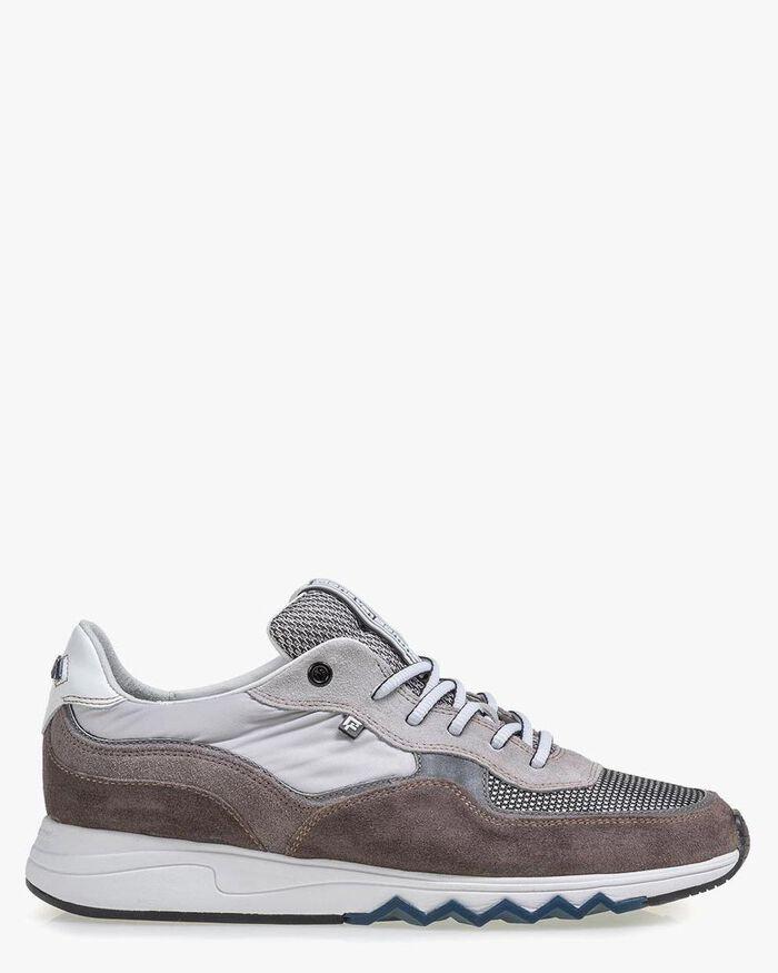Nineti suede leather light grey