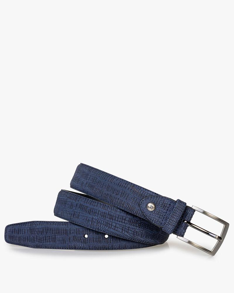 Belt with print dark blue