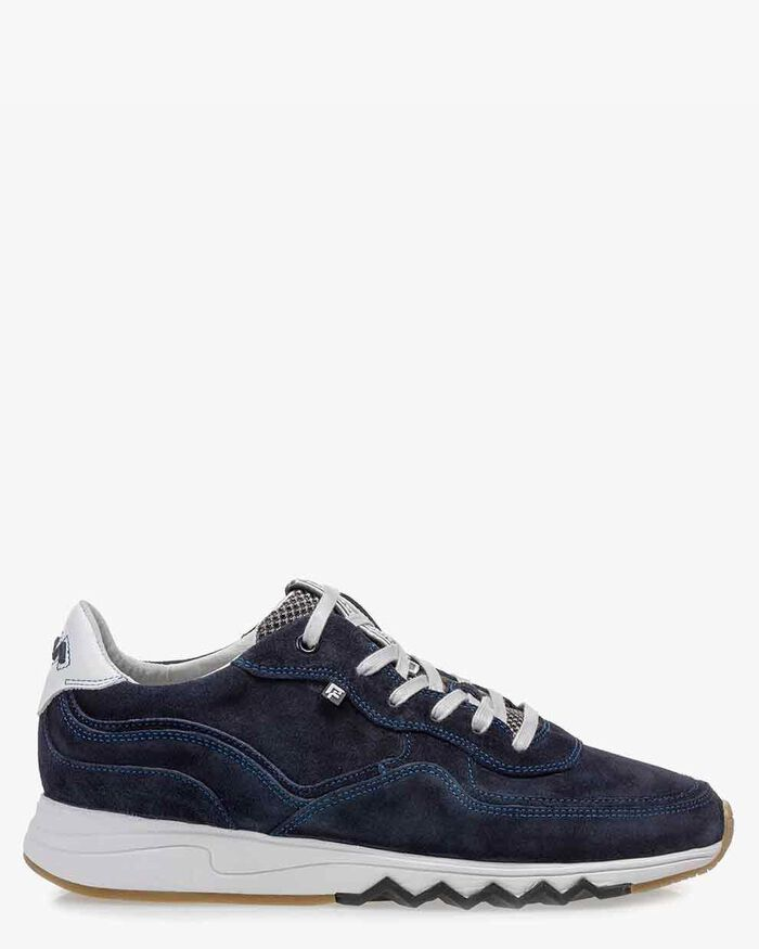Nineti dark blue suede leather