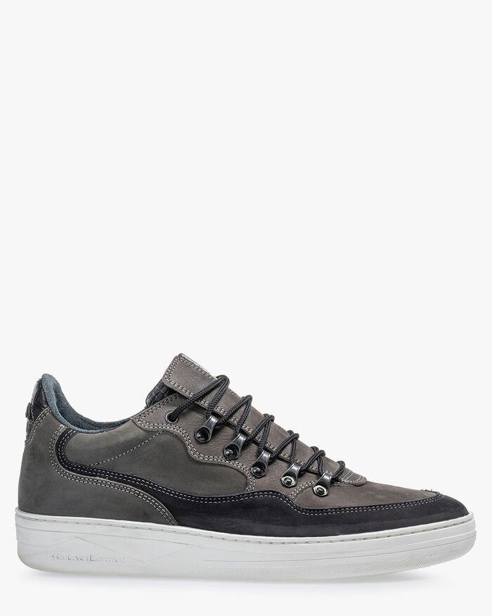 Sneaker nubuck leather dark grey
