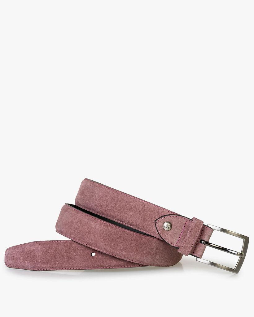 Belt suede leather pink