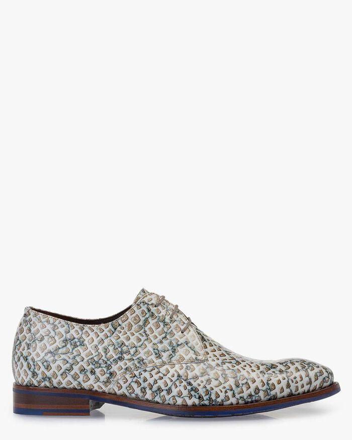 Lace shoe leather sand-coloured
