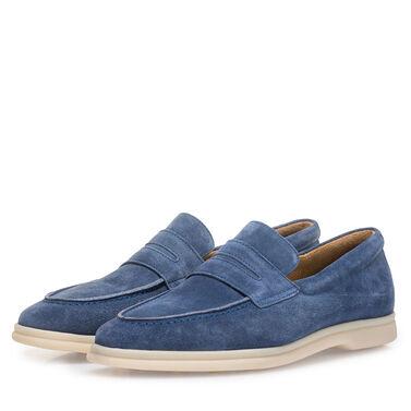 Van Bommel suede leather loafer