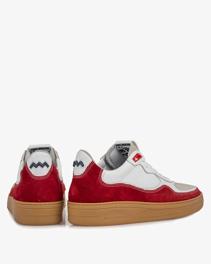 Sneaker suede leather red