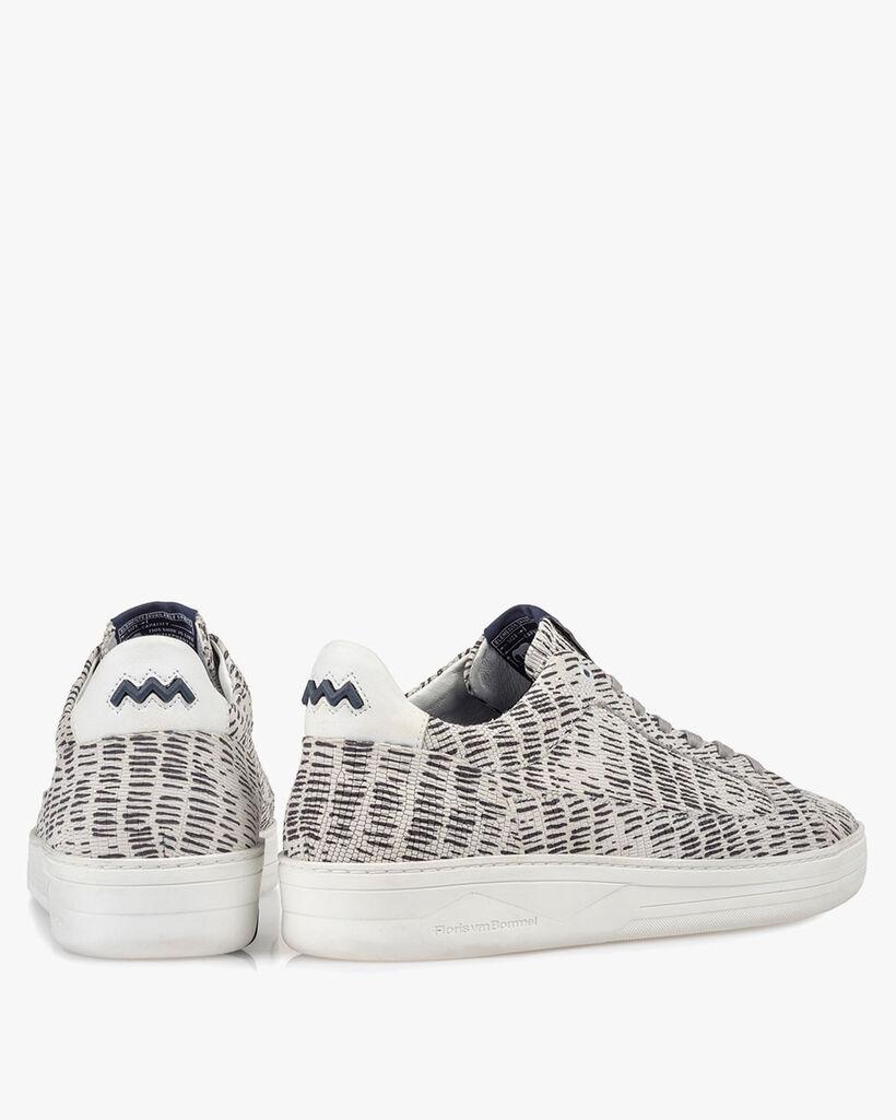 Sneaker nubuck leather black/white