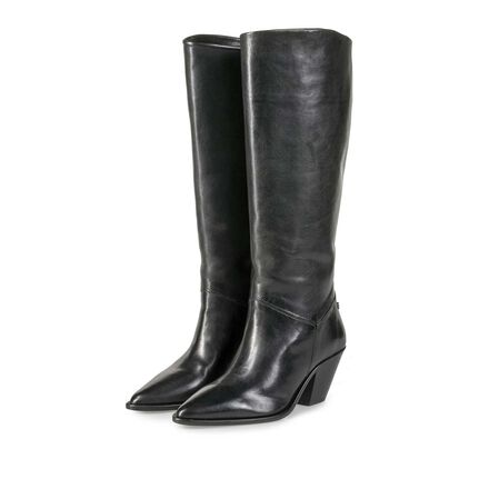 High calf leather western boot