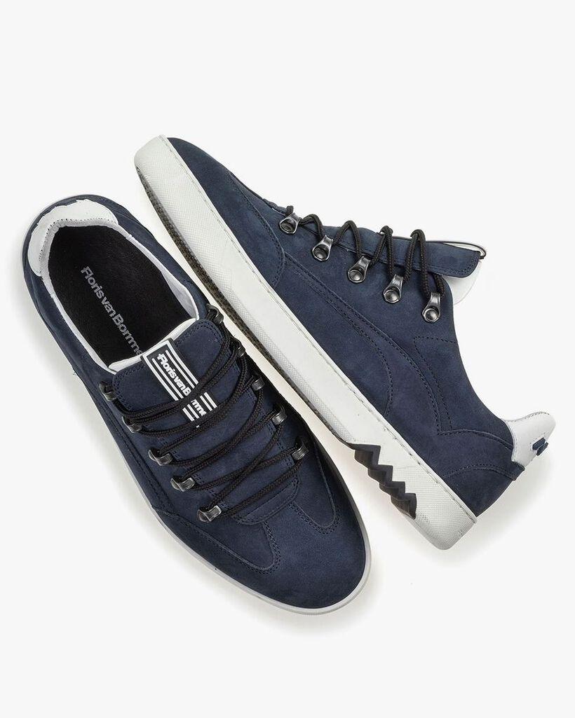 Hiking sneaker nubuck leather blue