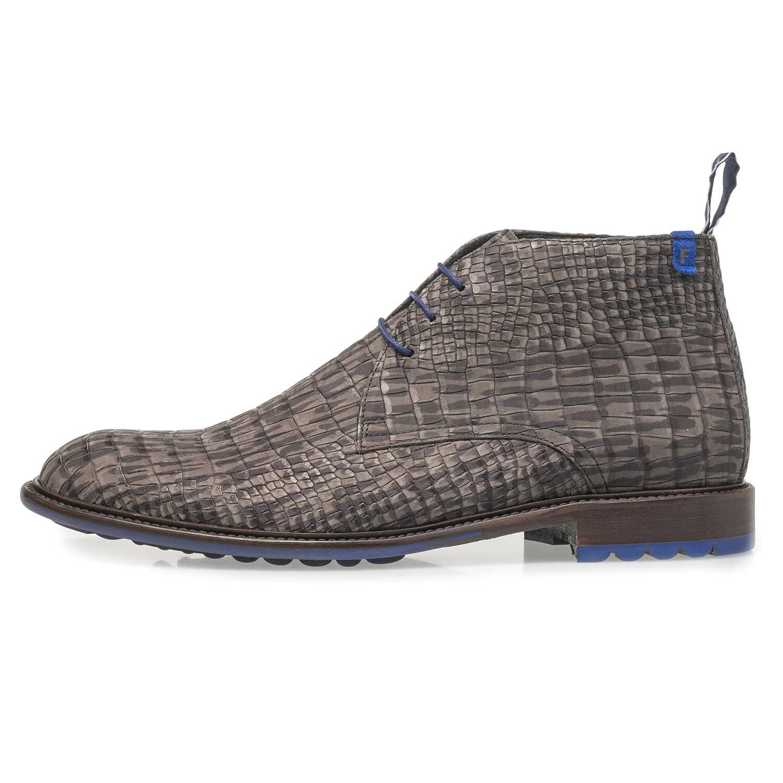 Blue nubuck leather lace shoe 1020322 | Floris van Bommel
