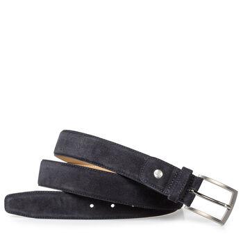 Dark blue suede belt