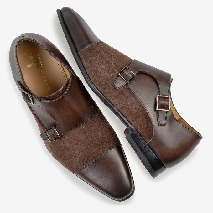 Double monk strap dark brown