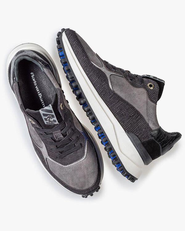 Noppi sneaker suede leather black