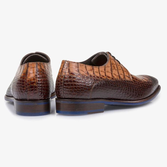 Brown calf leather lace shoe
