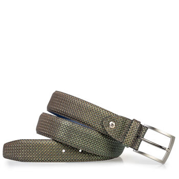 Belt green metallic