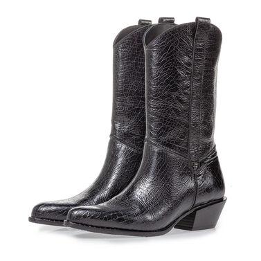Leather western boot women