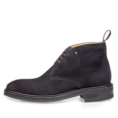 Leather lace boot