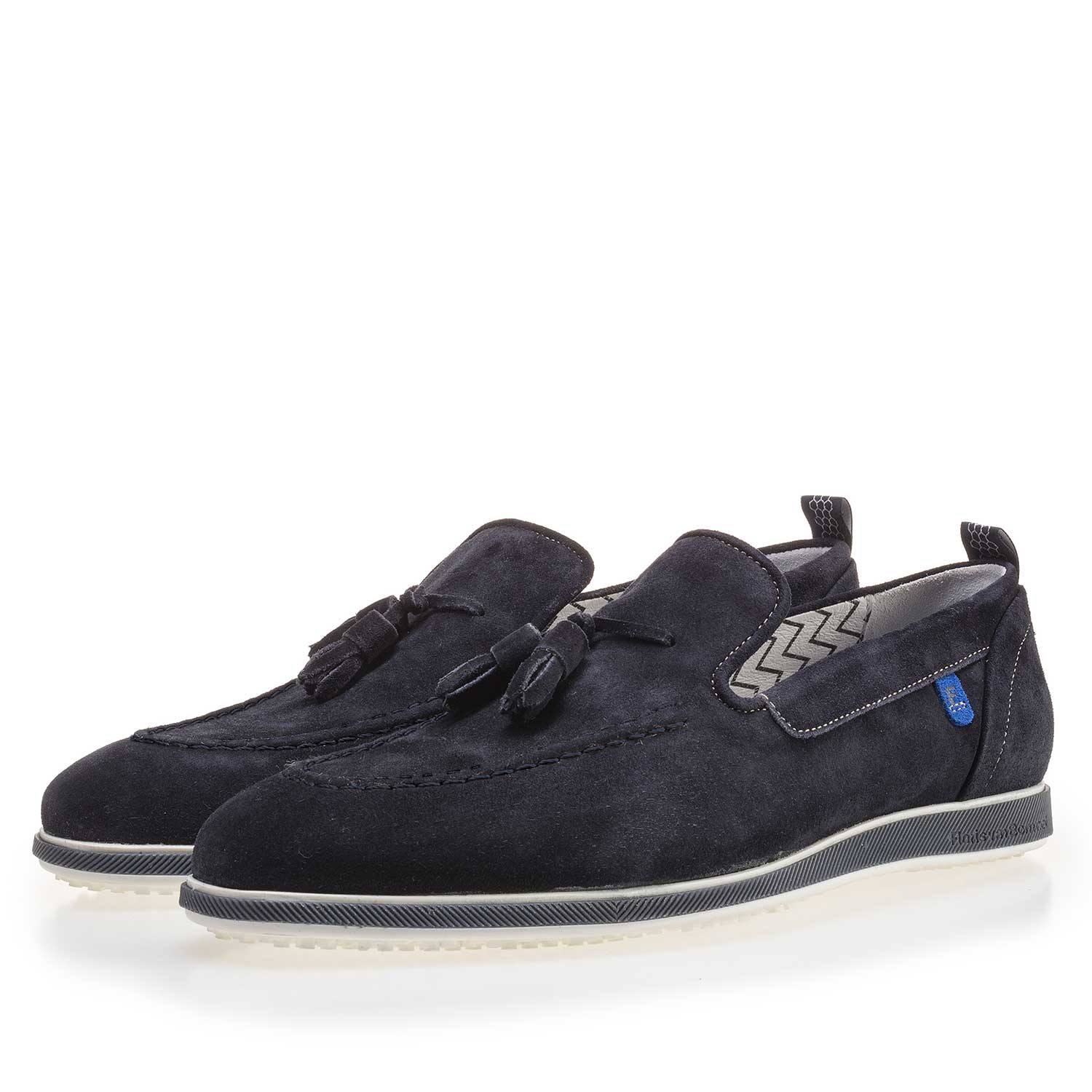 11127/00 - Dark blue suede leather loafer