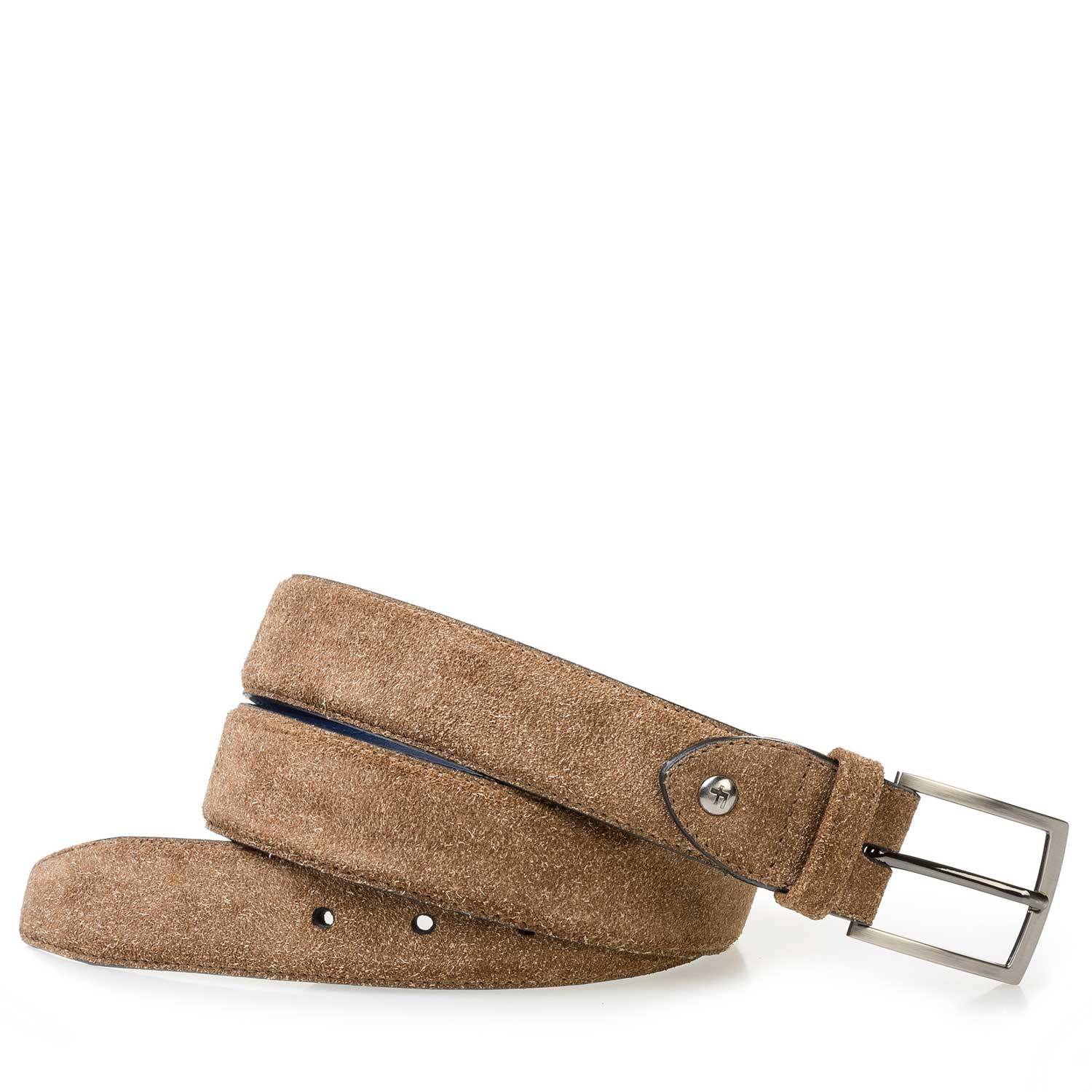 75200/02 - Brown rough suede leather belt