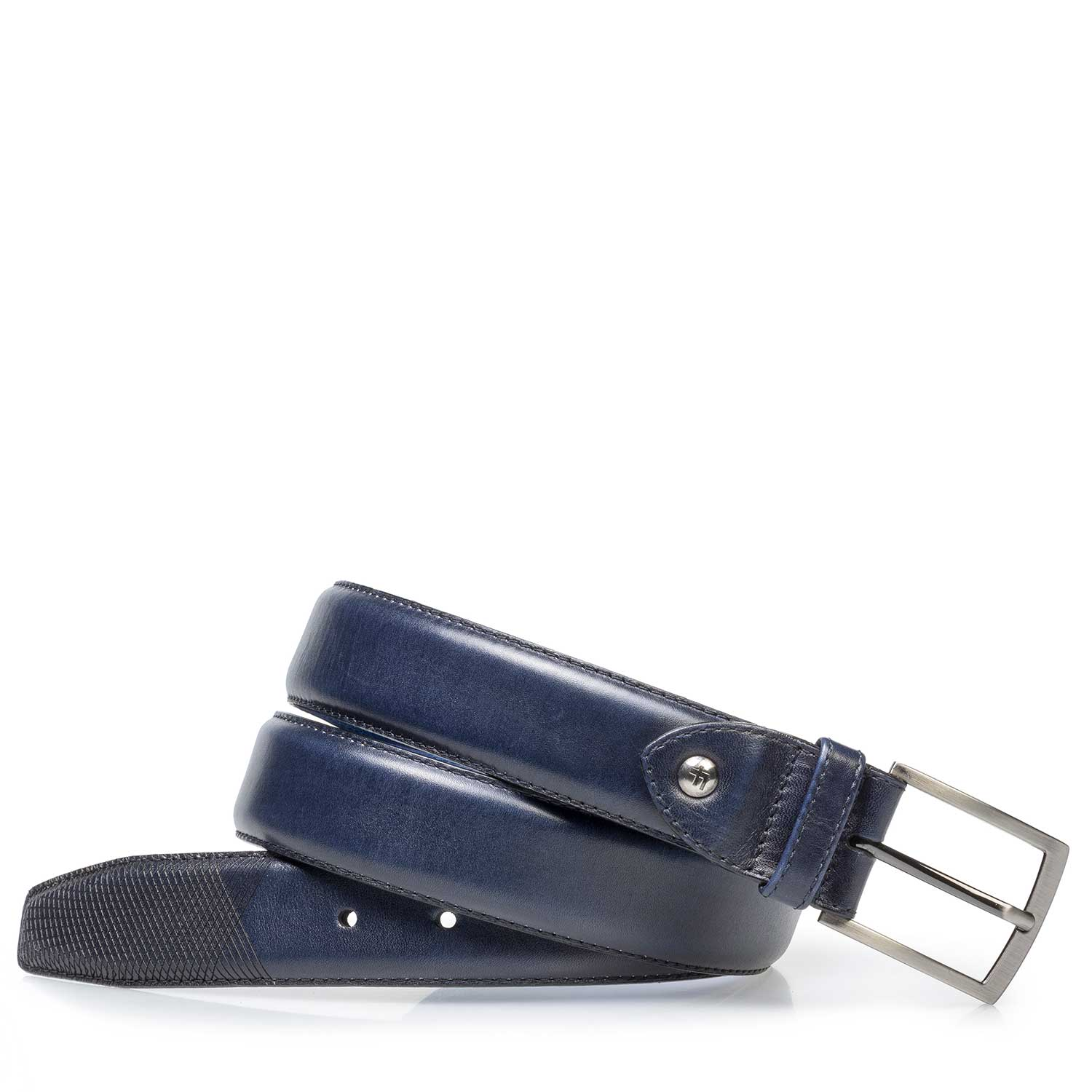 75211/02 - Dark blue calf leather belt