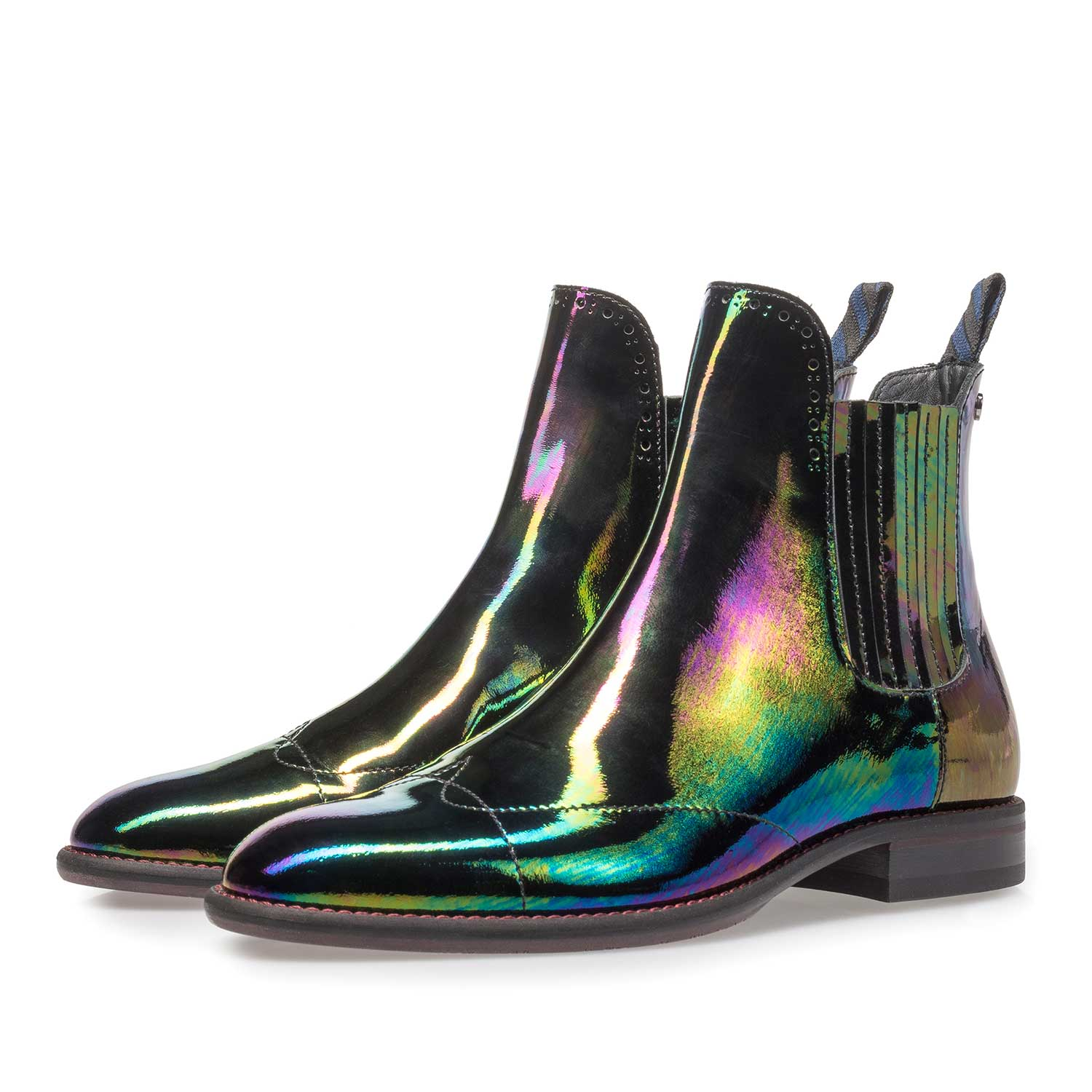 85601/02 - Multi-coloured patent leather Chelsea boot