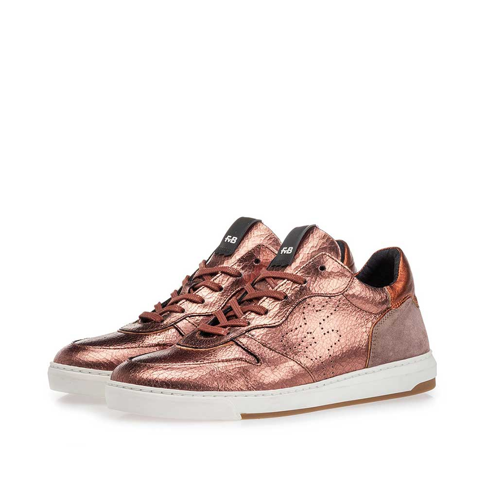 85300/09 - Sneaker craquelé leather pink