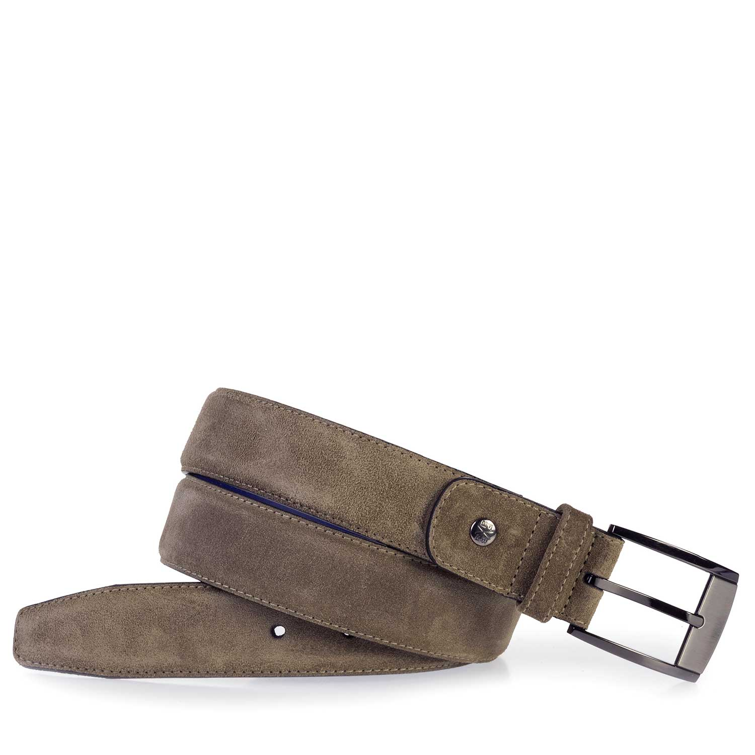 75183/04 - Taupe-coloured suede leather belt