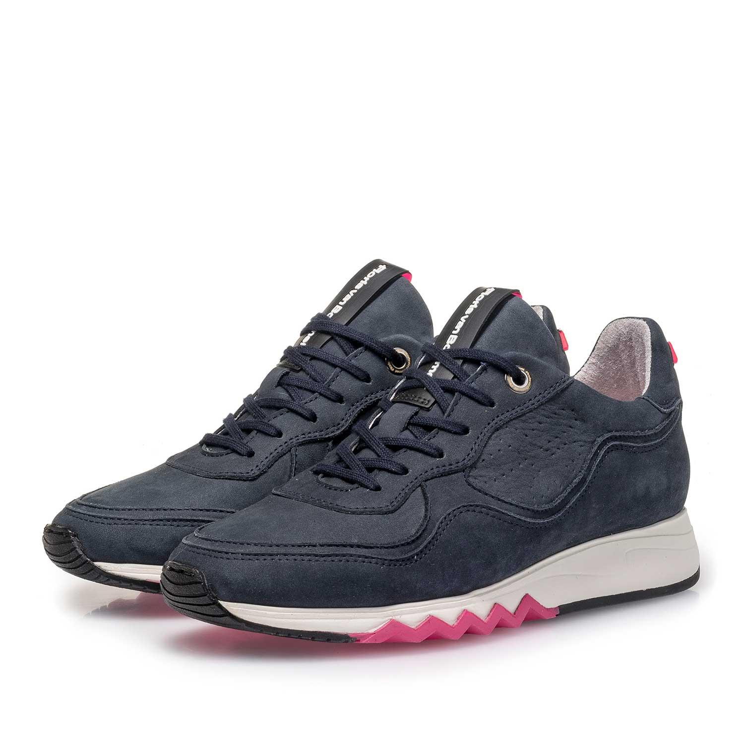 85265/10 - Dark blue nubuck leather sneaker