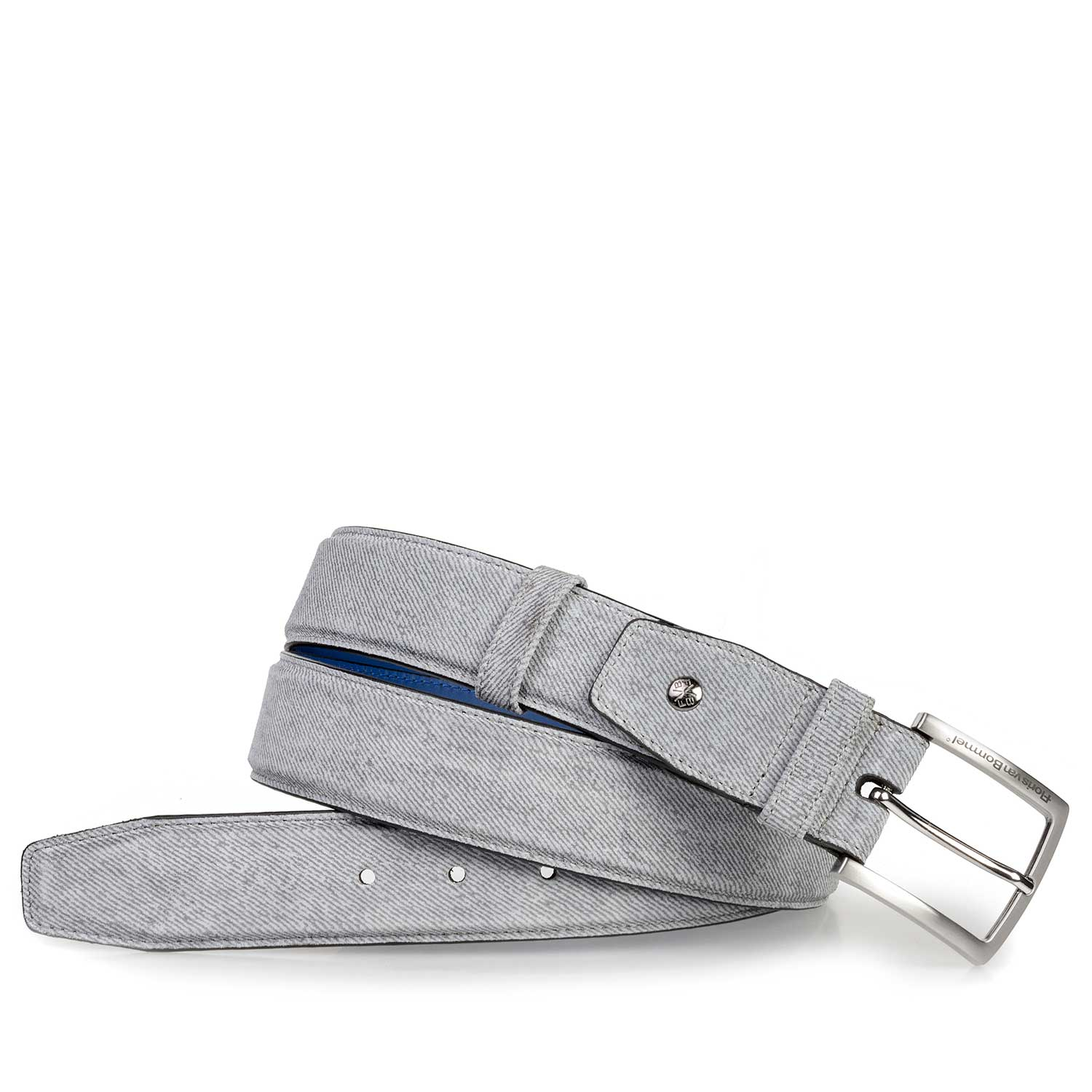 75181/10 - Light grey suede leather belt