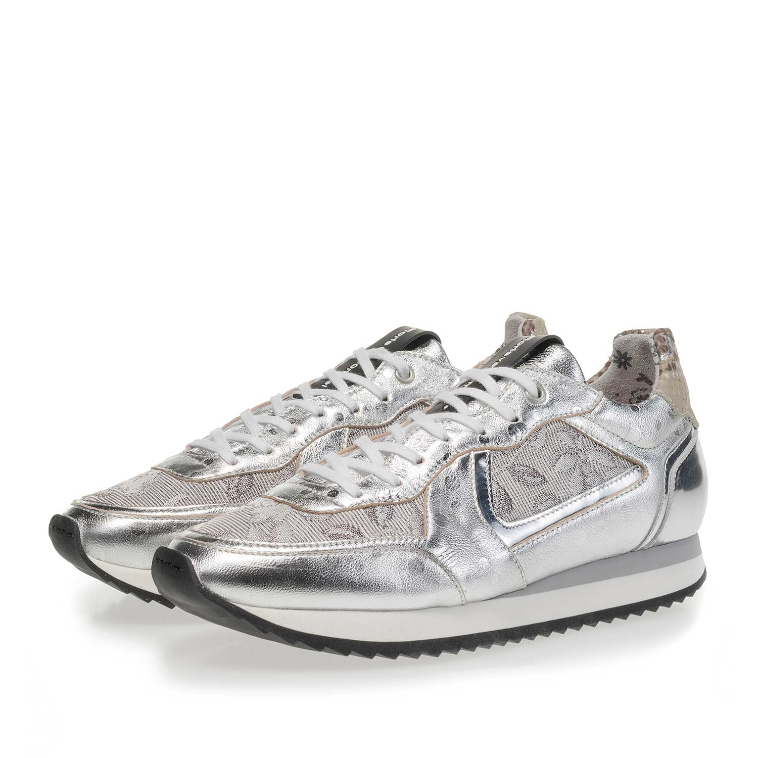 85232/01 - Silver-coloured leather sneaker