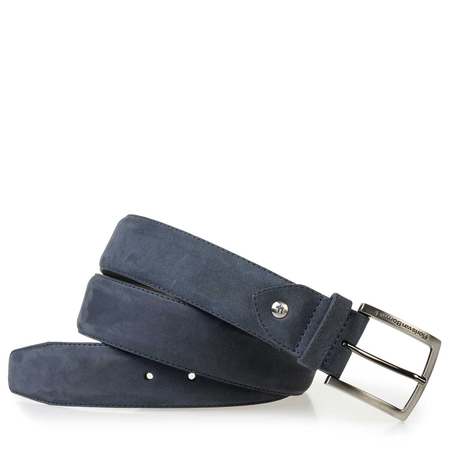 75189/86 - Blue nubuck leather belt