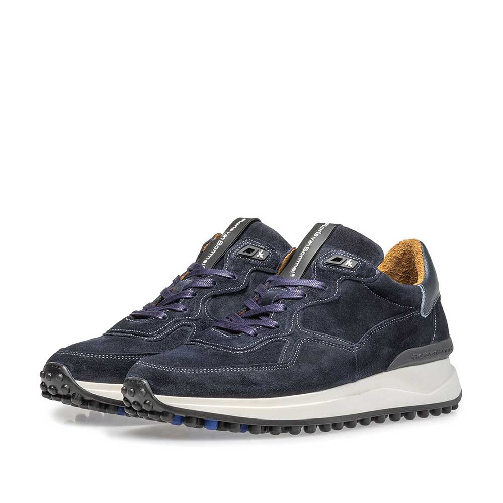 16301/22 - Blue suede leather sneaker
