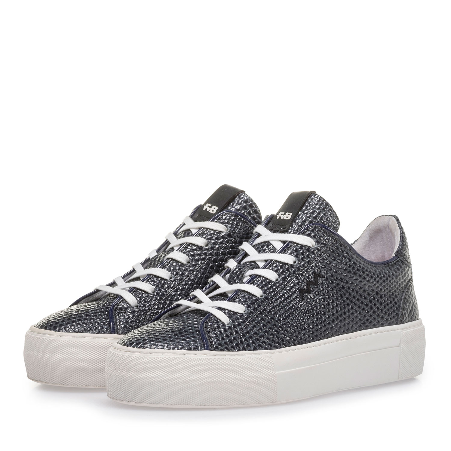 85297/01 - Dark blue sneaker with black print