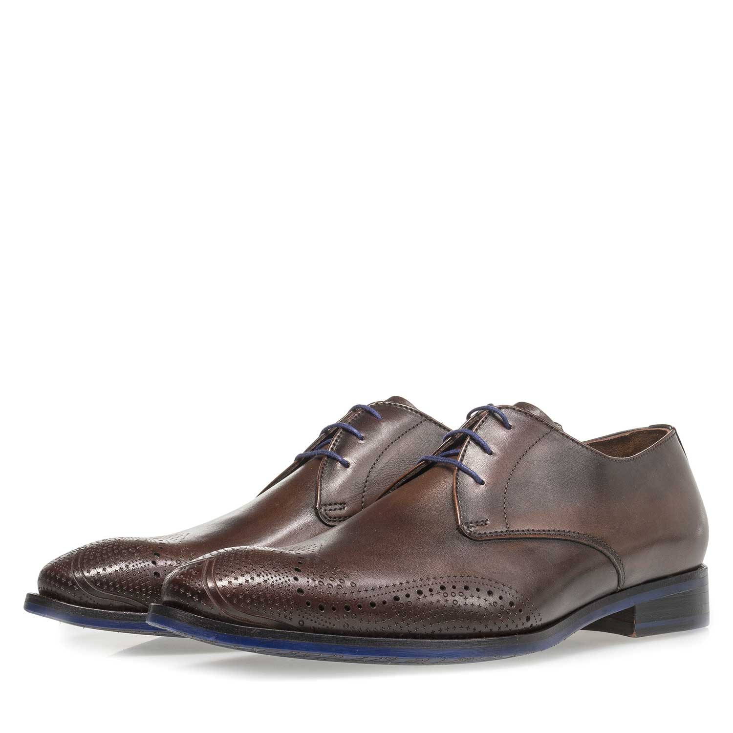 18175/02 - Dark brown calf leather lace shoe