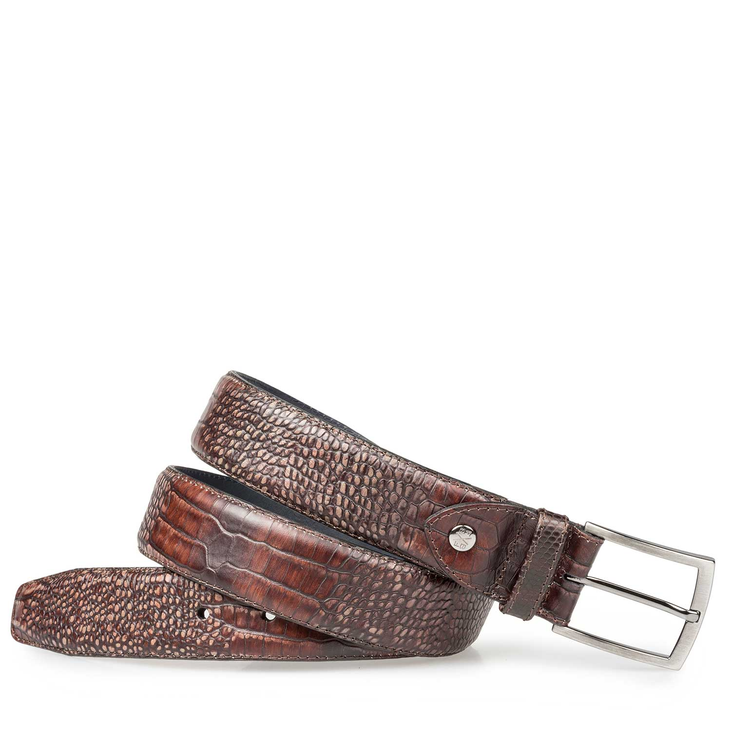 75190/48 - Dark brown belt with croco print