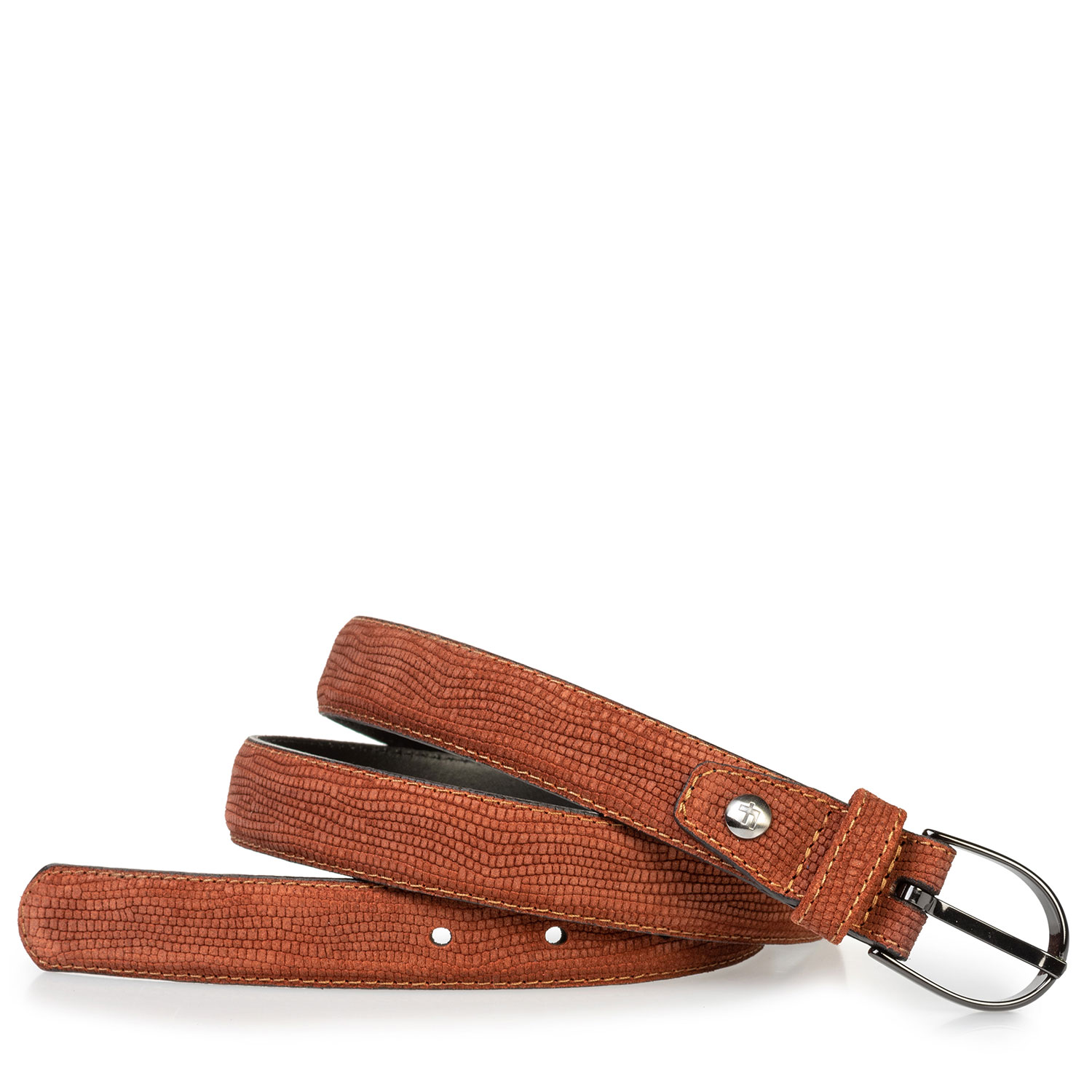 75813/95 - Women's belt suede leather brown