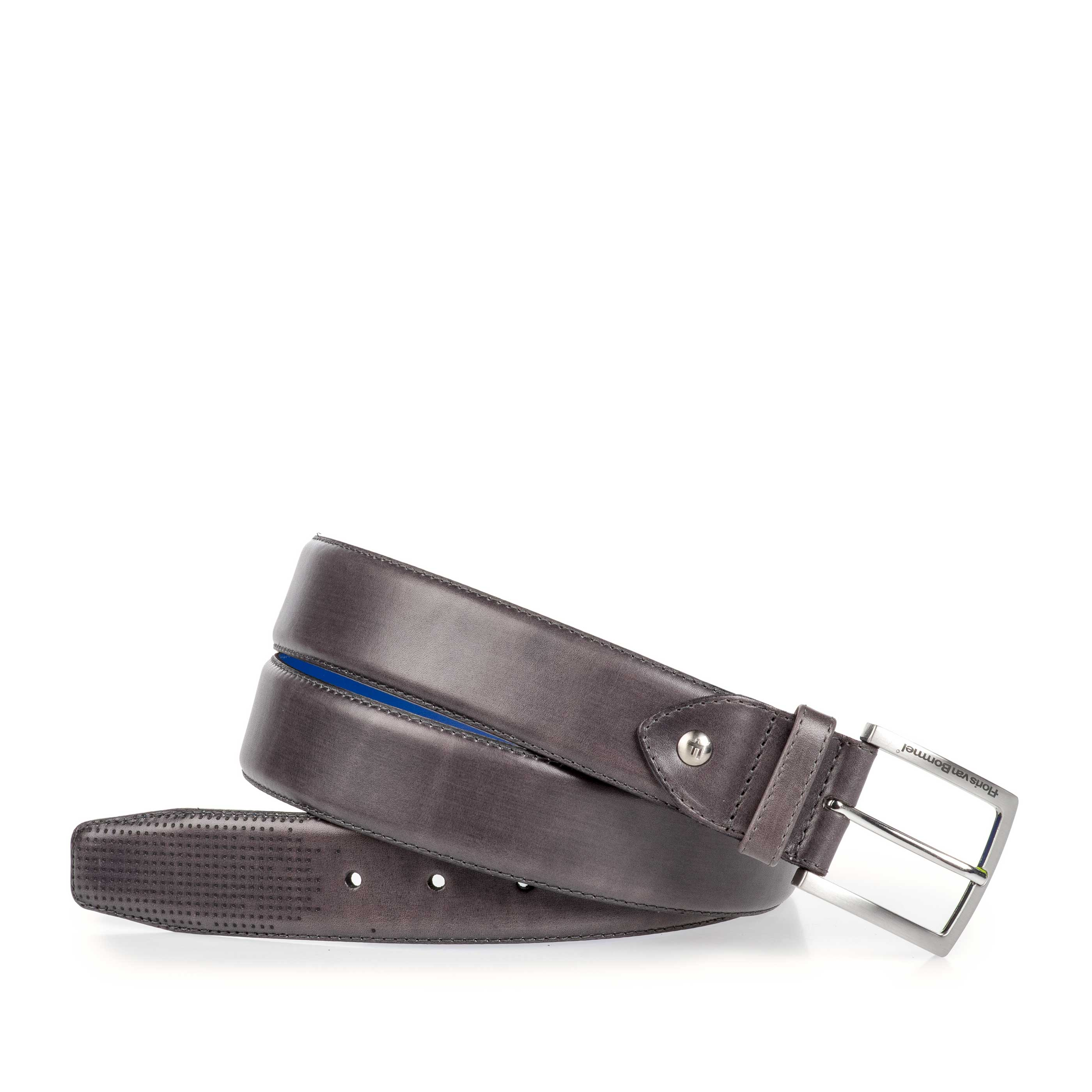 75187/00 - Grey patterned calf's leather belt