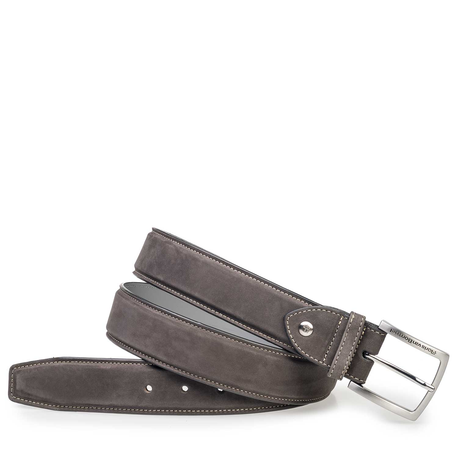 75189/84 - Dark grey nubuck leather belt