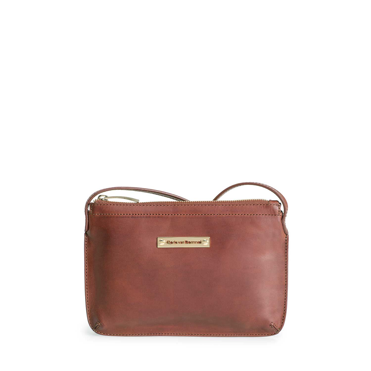 89010/01 - Brown leather cross body bag