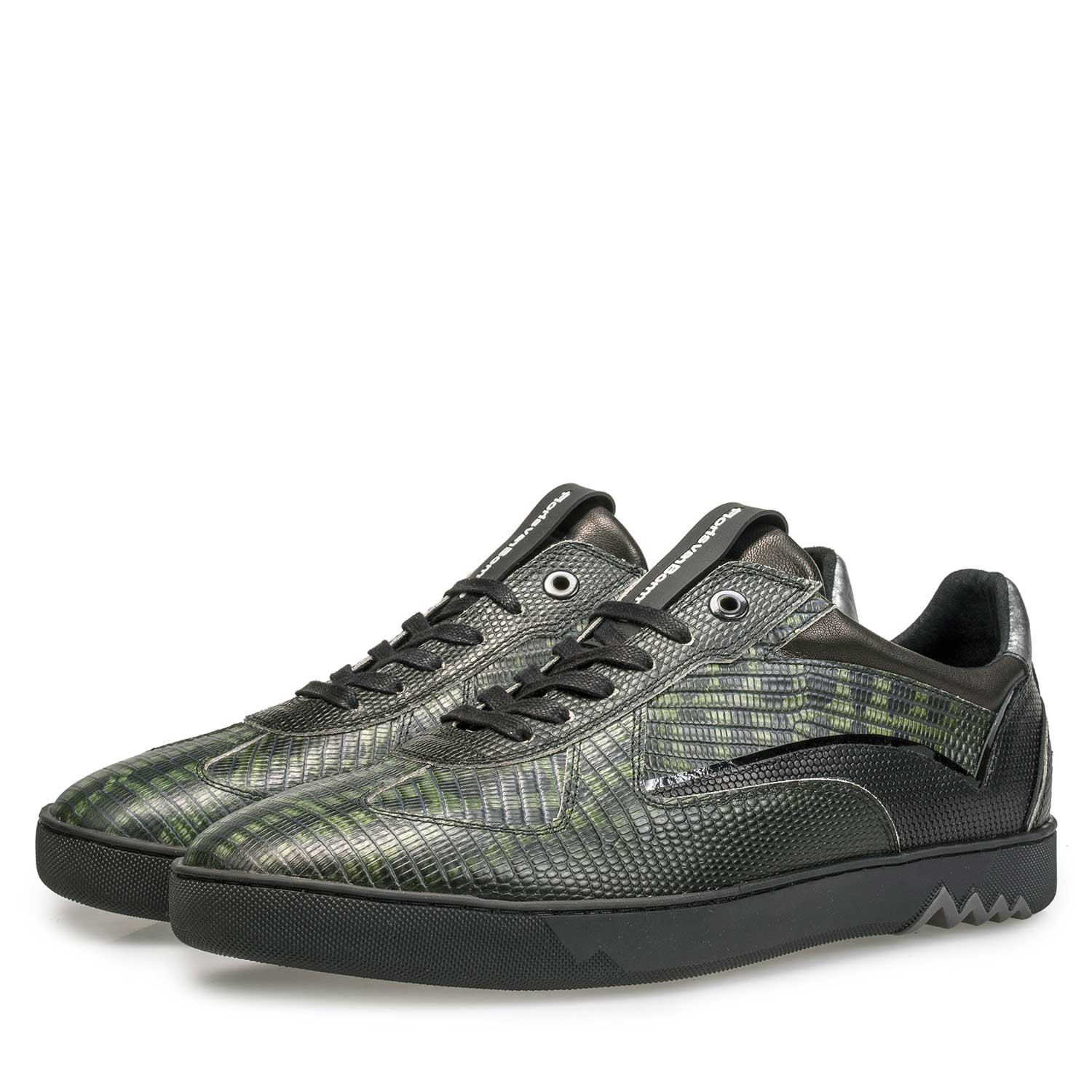 16242/03 - Sneaker with a lizard relief pattern