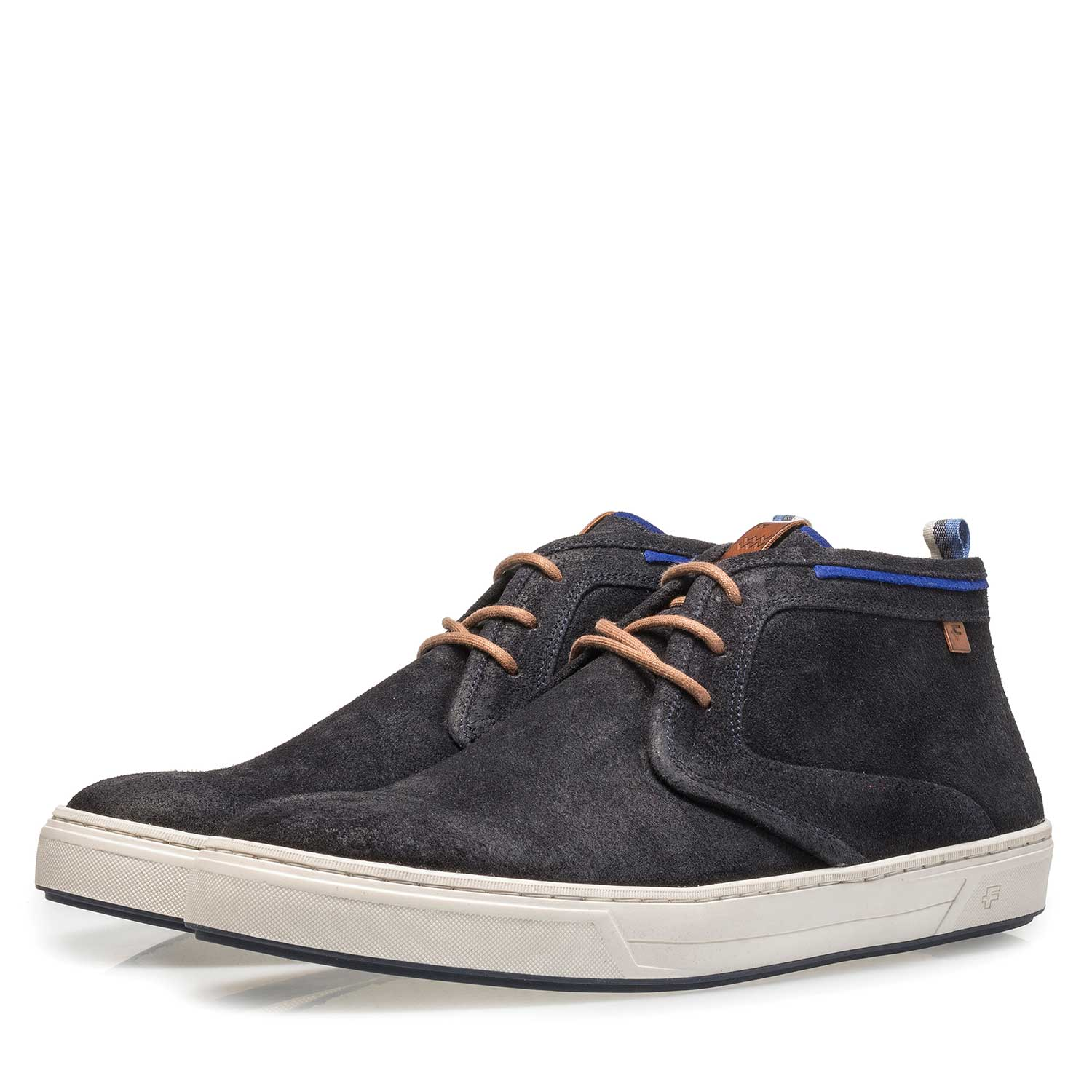 10466/10 - Dark blue suede lace boot