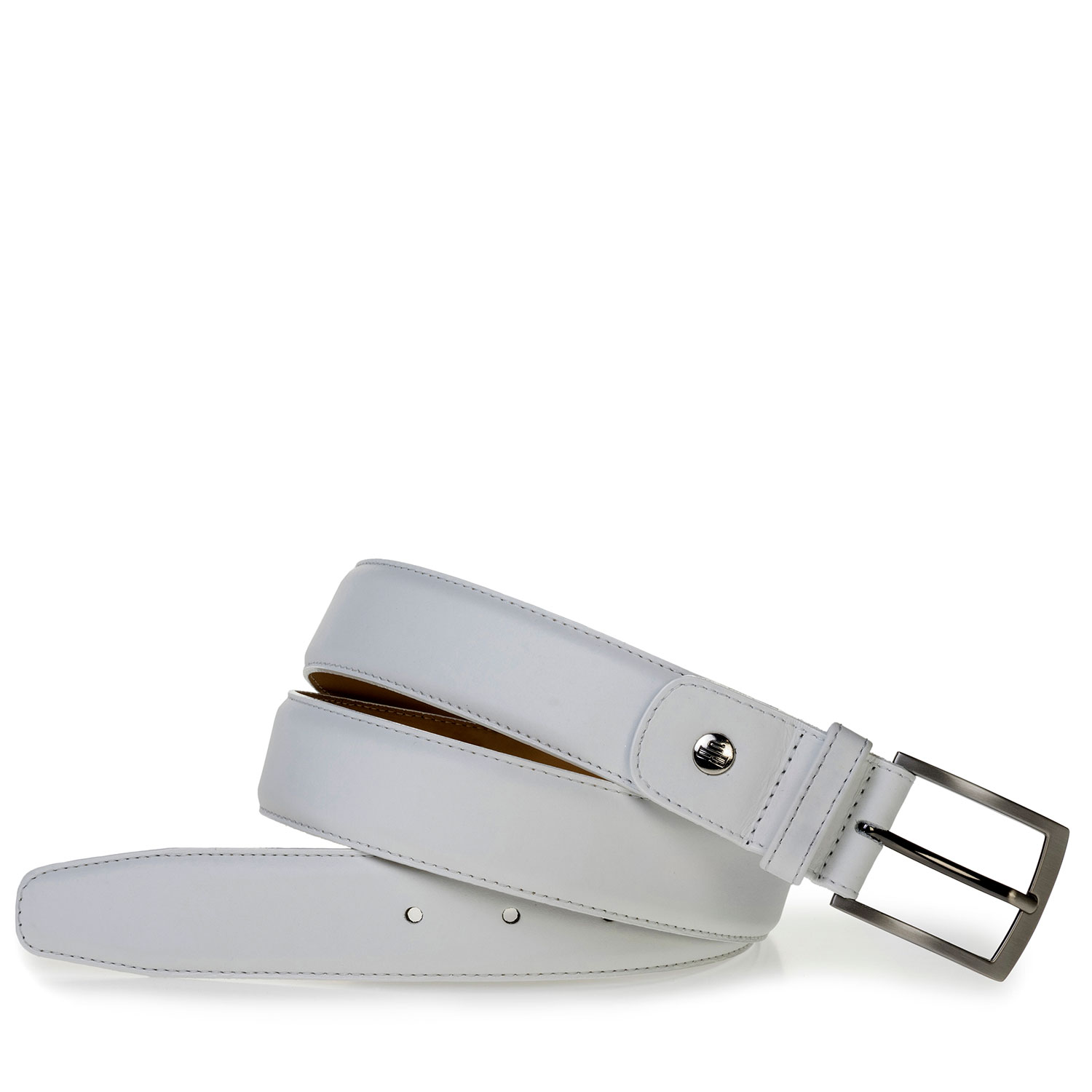75076/41 - White calf leather belt
