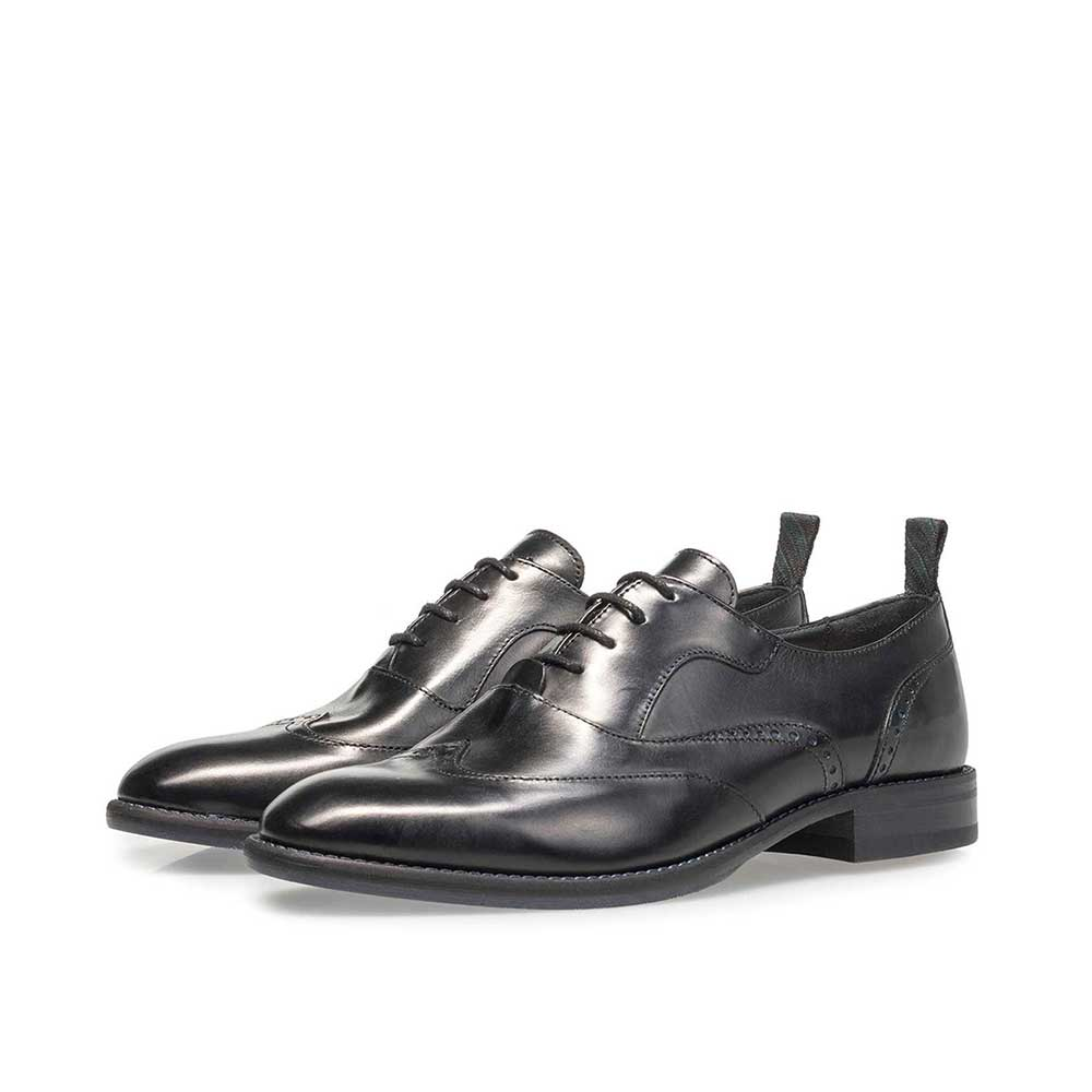 85812/03 - Black calf leather lace shoe