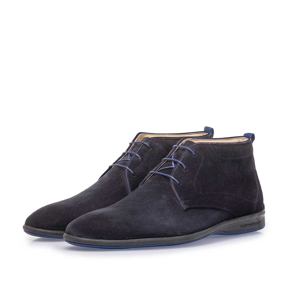 20300/00 - Dark blue suede leather lace boot